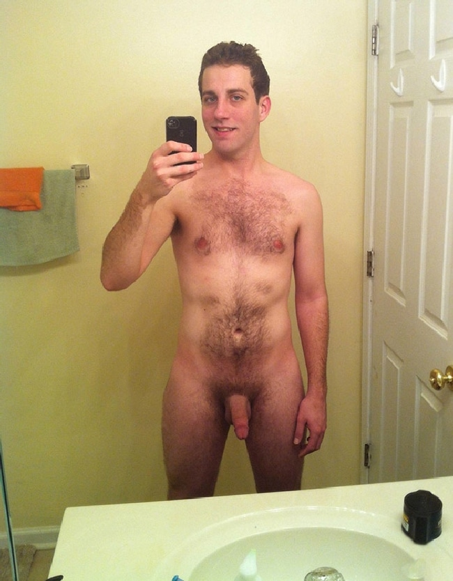Nude Man With Hairy Body Taking Selfie - Gay Cam Chatters