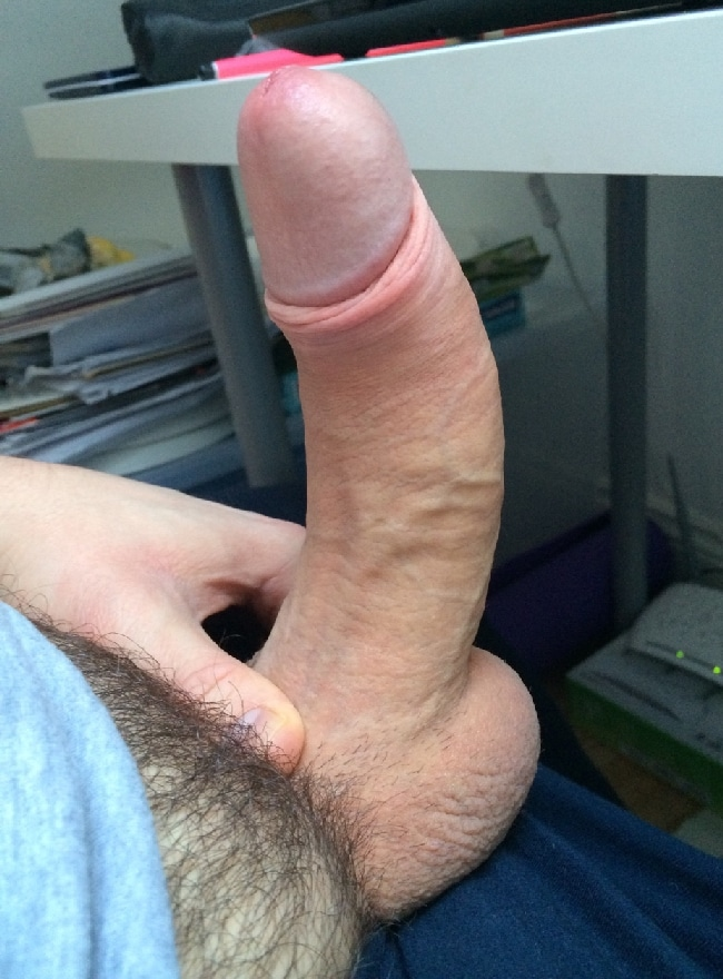 nude penis shaft and cum